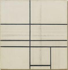 margadirube:  Piet Mondrian (1872 - 1944) Composition avec ligne double (inachevé), 1934