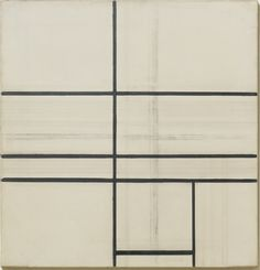 preciousandfregilethings:  Piet Mondrian (Dutch, 1872-1944), Composition with Double Line (unfinished), 1934