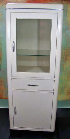 Vintage Medical Cabinet  Metal  Industrial  by SundriesandSalvage, $388.00