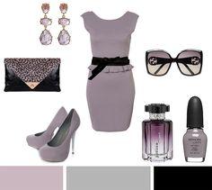 Dusty purple--Today's Inspiration: TopShop Ottoman Fitted Dress ($47.00), Diane Von Furstenberg Large Obi Wrap Leather Belt ($135.00), Claudia Lobao Earrings ($190.00), Nina Leopard Envelope Clutch ($20.00), KG Enautre Courts Lilac Pump ($205.00), Gucci Square-Frame Acetate Sunglasses