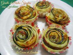 Le Girelle di Pasta sfoglia con Zucchine sono un modo veloce e gustoso per preparare una cena improvvisata o un delizioso antipasto o un Fingerfood