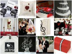 Music Wedding Ideas - www.cahousemusic.com  Love the invitation