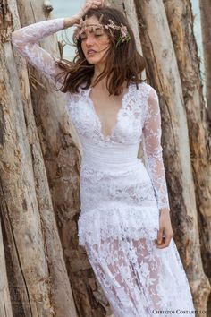 Christos Costarellos 2016 #Wedding Dresses | Wedding Inspirasi  #bridal #weddings #romantic #lace #weddingdress #weddinggown