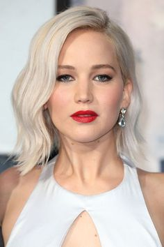 "The Hottest Hair Color Coming Out Of L.A. Right Now #refinery29  http://www.refinery29.com/2016/06/112439/platinum-blond-celebrity-hair-color#slide-3  Jennifer LawrenceIt was L.A. colorist Riawna Capri who took Lawrence to her lightest blond yet. ""I love, love, love, icy blondes right now!"" she tells us. ""The paleness of the ice next to a darker brow is my favorite."" Her secrets? She credits <a href=""http://www.refinery29.com/olapex-at-home-conditio..."
