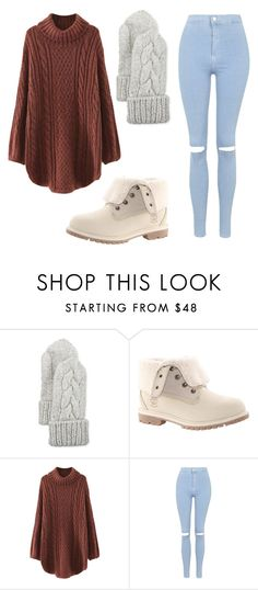 """Winter wonderland #1"" by beautyguru-secrets ❤ liked on Polyvore featuring Il Borgo, Timberland, WithChic and Topshop"