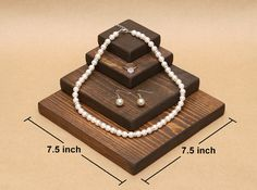 Wooden Jewelry Display Riser / R003 by USAVECO on Etsy