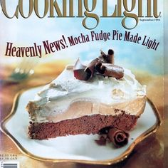 Mocha Fudge Pie | MyRecipes.com | I use the instructions for the nonalcoholic version, except I put coffee in the pudding too, as well as the whipped topping. Yum!