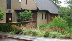 HIGHLIGHTS: Native Plant Palette Sustainable Landscaping Site walls and Stone Terraces Ornamental Grasses and Perennials Lily Pool