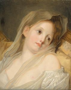 The Athenaeum - The Dreamer (Jean-Baptiste Greuze - ) French Rococo, French Art, Rococo Painting, Johann Wolfgang Von Goethe, Jean Baptiste, Paintings I Love, Renaissance Art, Buy Posters, Old Art