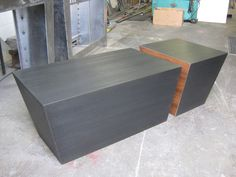 Split Steel and Walnut Coffee Table by billmoredesign on Etsy, $1,900.00