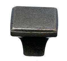 Square Knob 1 3/16'' - Cast Iron