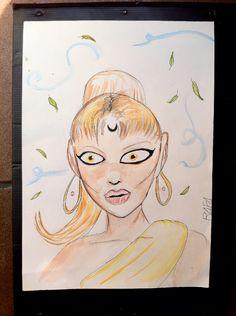 Khadija   #ilustration #ilustração #aquarela #arte #drawing #draw #art #watercolor #painting #pintura #desenho #a3 #arteindependente #ink #tinta #rabiscos