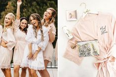 Sweet Somethings + Getting Ready Robes for Your Bridesmaids.Plus Honeymoon Essentials from Wedding Favorites! - image for you Bridesmaid Swimsuit, Bridesmaid Dresses, Wedding Dresses, Honeymoon Essentials, Dream Wedding, Wedding Day, Wedding Gifts For Bridesmaids, Green Wedding Shoes, Bridal Shower Gifts