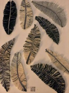 Feathers out of denim scraps by Melissa Headrick Bailey on FB @ Upcycleit... #TextileWaste #Upcycle #Recycle #DIY #GreenLiving #Handmade #DIY #Craft #Reuse #Repurpose #Feathers Denim Scraps, Upcycled Textiles, Reuse, Feathers, Repurposed, Recycling, Diy, Crafts, Handmade
