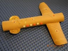 Paper Towel Roll Airplane