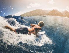 Las cosas se ven mejor desde la cresta de una ola, ¿verdad? :-) #surf