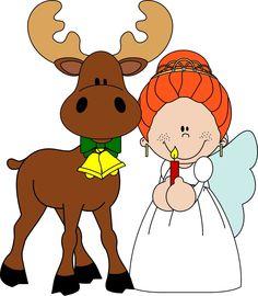 Merry Christmas card of a sweet princess angel