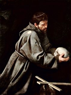 Caravaggio (1571-1610) - San Francesco in meditazione - 1606 - Galleria Nazionale d'Arte Antica, Roma