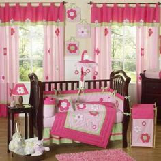 Ok...so including everything on here is a bit much to me, but I would love to incorporate some of these things into a baby girl's room. For example, I would use the valances but put white sheer curtains with them.
