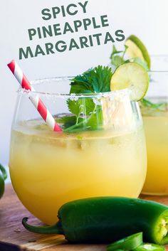 Spicy Pineapple Cilantro Margaritas Recipe | the INSPIRED home