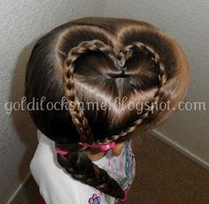 Heart hair style, braided heart