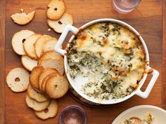 Hot Spinach-Artichoke Dip from FoodNetwork.com,So many variations on this, all good!