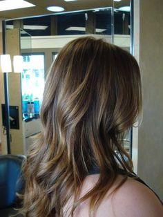 subtle highlights on light brown hair