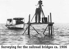Railroad surveyors, Florida Keys, 1906
