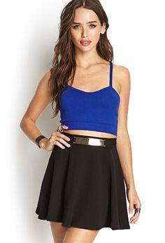 Belted Skater Skirt   FOREVER21 - 2000121376