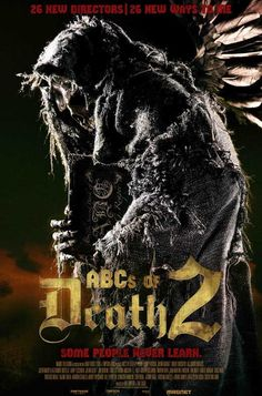 """ABC's of Death 2 27x40 Movie Poster (2014). CAST: Martina García, Tristan Risk, Béatrice Dalle, Andy Nyman, Laurence R. Harvey, Lee Majdoub, Ian Virgo, C. Ernst Harth, Victoria Broom, Iván González Iván González, Alan McKenna, Miguel Ángel Muñoz, Jerod Meagher, Mark Grossman, Robert Boocheck, Angelica Alejandro; DIRECTED BY: Rodney Ascher, Julian Barratt, (more);  Features:  27"""" x 40""""   Packaged with care - ships in sturdy reinforced packing material   Made in the USA SHIPS IN 1-3..."""
