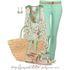 """""""A Minty Spring"""", created by jaycee0220 on Polyvore"""