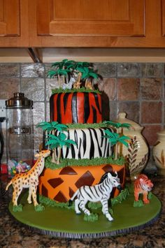 Safari Birthday Cakes Animal Wallpapers