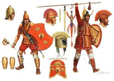 Giuseppi Rave - Mycenaean warriors late bronze age
