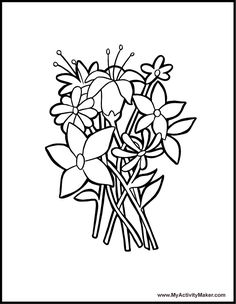 Flowers Coloring Pages  Flower coloring pages  Pinterest