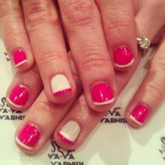 Two color french nails