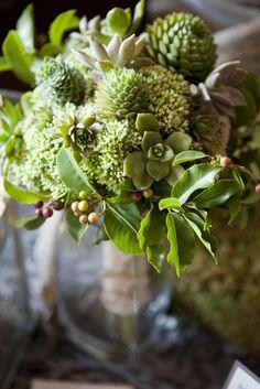 Green! wedding bouquet