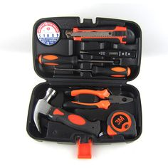 PDR Household hand Tool Set Home Repair Kit Claw hammer Wire pliers Cross screwdrive Knives 9 Piece Mechanics Tools #Affiliate