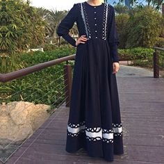 Swirls Jersey Abaya - Navy Blue / Plus Size Abaya / Dubai Abaya / Navy Abaya / Open Front Abaya / Eid Abaya / Jersey Abaya / Occasion Abaya Abaya Fashion, Muslim Fashion, Fashion Dresses, Abaya Open, Abaya Dubai, Mode Hijab, Abayas, Swirls, Navy Blue
