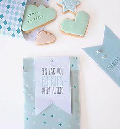 Koekzakje - Cookiebag Kijk op www.101woonideeen.nl #tutorial #howto #diy #101woonideeen #koekzakje #cookiebag