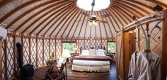 10 Unique Cabins & Places to Stay in Hocking Hills You Don't Want to Miss  From yurts, tree houses, observatories, castles and more, Hocking Hills has plenty of once-in-a lifetime places to stay.