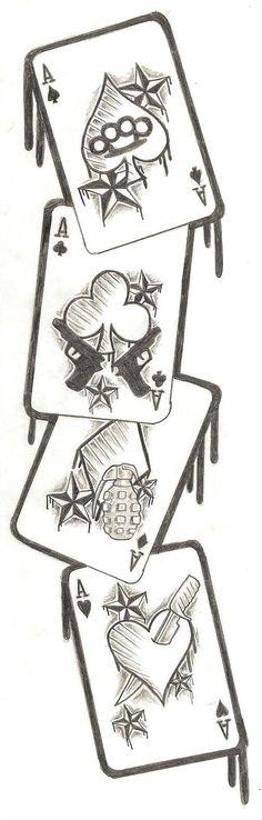 Cards tattoo design by nixxxxx tatouage poker, card tattoo designs, angel t Cool Art Drawings, Pencil Art Drawings, Art Drawings Sketches, Tattoo Drawings, Tattoo Sketches, Kunst Tattoos, Body Art Tattoos, Sleeve Tattoos, Maori Tattoos
