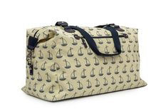 Pink Lining Bridget Holdall Navy And Cream Boats Changing Bag