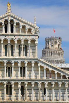 Duomo And Campanile of Pisa, Italy