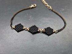 Bracelet losange apprêts dorés via My-French-Touch. Click on the image to see more!