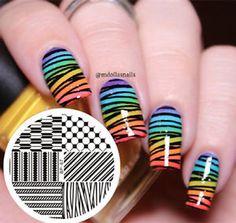 Nail-Art-Stamping-Template-Image-Plate-Arrow-Geo-Pattern-BORN-PRETTY-BP67