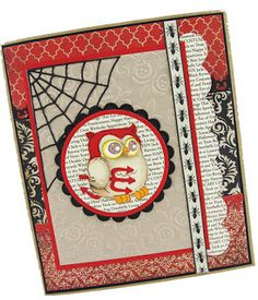 Chatting Whoot all dressed up for Halloween! Card by @Renee Matarese