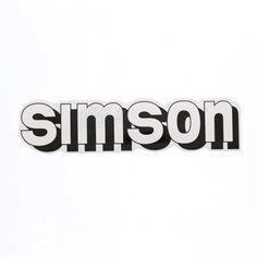 Simson S51 Aufkleber - simson - für Tank - weiß / schwarz Simson Tank, Simson Moped, Macbook Decal Stickers, Decals, Side Boob Tattoo, Typography, Lettering, Adhesive, Graphic Design