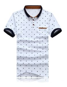 a8174f0654f New 2015 Brand POLO Shirt Men Cotton Fashion Skull Dots Print Camisa Polo  Summer Short-sleeve Casual Shirts