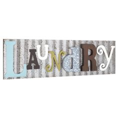 Generic Laundry Galvanized Metal Colorful Wooden Letters Wall Decor Laundry Room Wash Room Sign Rustic and Unique,Pink >>> Click image for more details. (This is an affiliate link) Laundry Room Colors, Rustic Laundry Rooms, Laundry Room Signs, Laundry Art, Laundry Room Wall Decor, Galvanized Decor, Galvanized Metal, Corrugated Metal, Letter Wall Decor