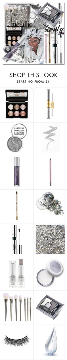 """Metallic Makeup"" by ilona-828 ❤ liked on Polyvore featuring beauty, Witchery, tarte, Obsessive Compulsive Cosmetics, NYX, Urban Decay, Anastasia Beverly Hills, Forever 21, Bourjois and Battington"